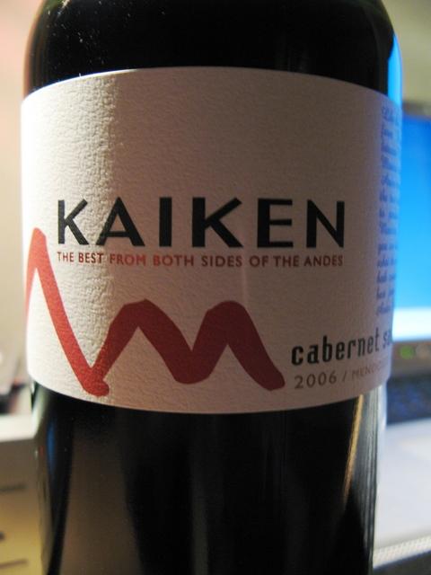 2006 KAIKEN CABERNET SAUVIGNON / MONTES S.A