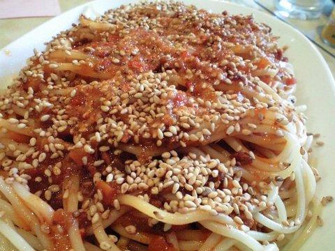 フラミンゴの中華風ミートソース