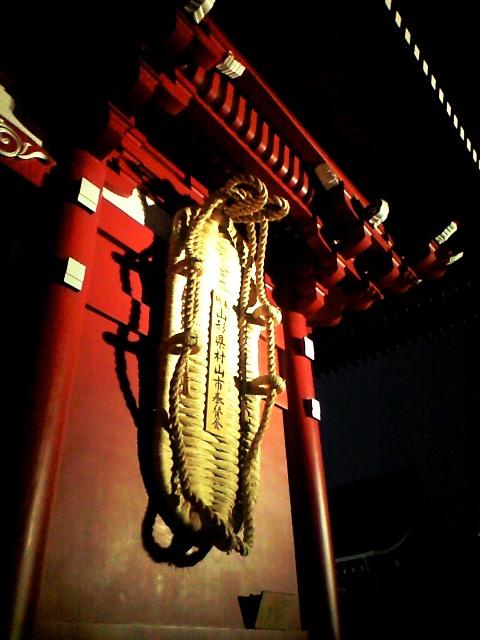 浅草寺宝蔵門の大わらじ