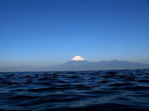 大瀬崎大川下の富士山