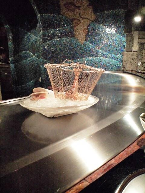 クルマエビと蛤の鉄板焼き