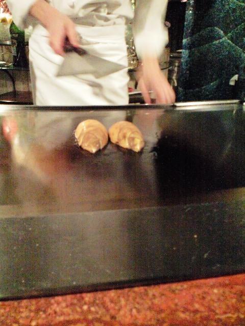 タケノコの鉄板焼き