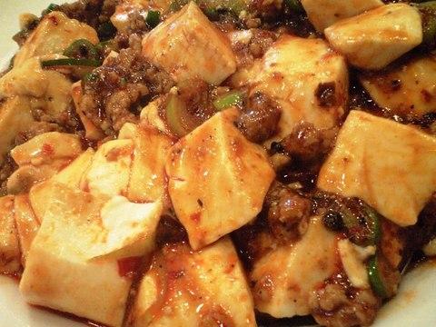 天鴻餃子房の花椒麻婆豆腐