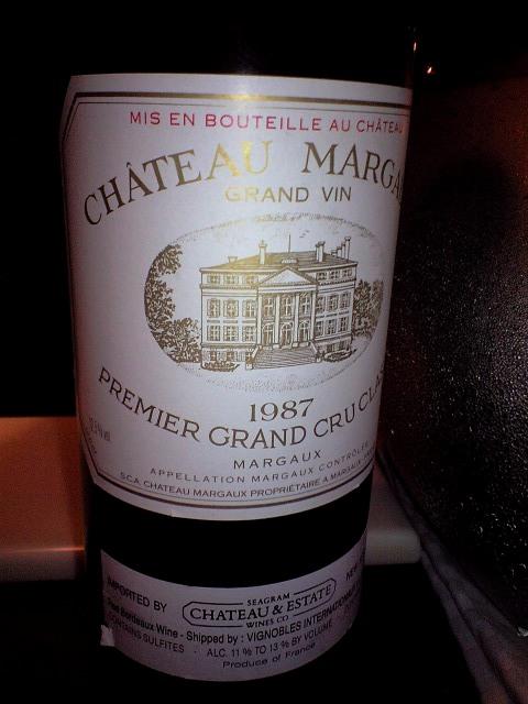Ch. MARGAUX 1987 シャトー・マルゴー