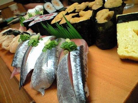 志津川のすし屋「弁慶」 握り寿司