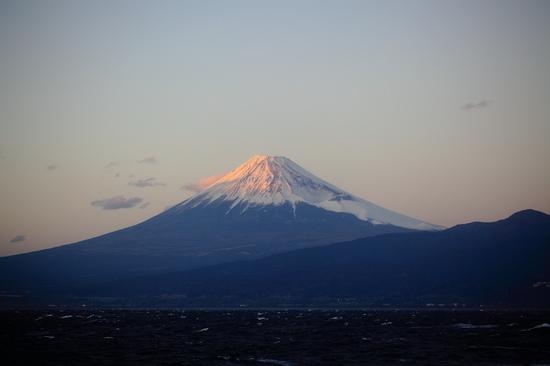 大瀬崎 駿河湾から富士山を望む