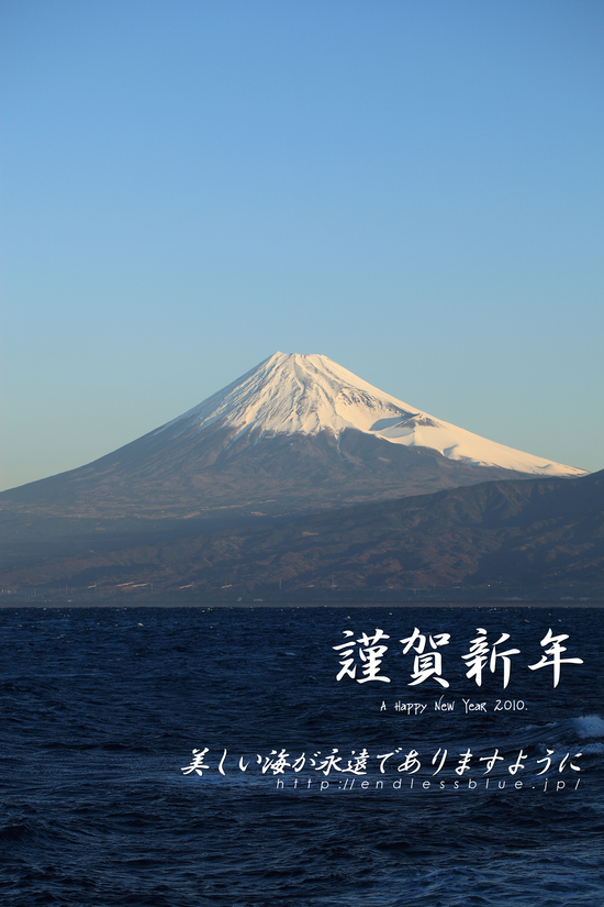 大瀬崎 柵下から見た駿河湾と富士山