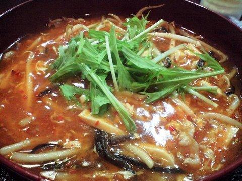 中華飲茶酒場 紅梅(九段下)の酸辛麺