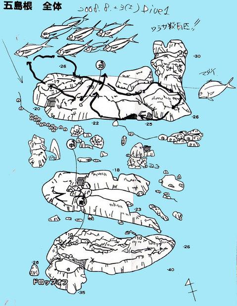 伊東 五島根 水中マップ